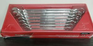 Snap On Oexl707b 7 Piece Sae Long Handle Combination Wrench Set