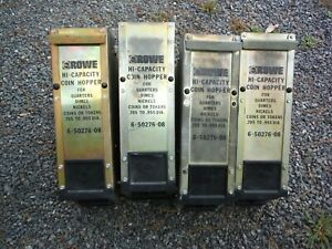 Lot Of 4 Rowe Bill Changer Hi capacity Coin Hopper 6 50276 08