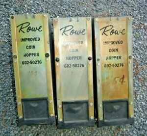 Lot Of 3 Rowe Bill Changer Hi capacity Coin Hopper 602 50276