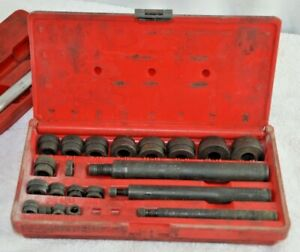 Snap On Tools 23 Piece Bushing Driver Set A157b Complete Set With Case Pb20 Usa