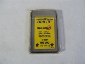 Ch8361 Chrysler Drbiii 3 Diagnostic Scan Tool Super Card 2 1994 97 Domestic More