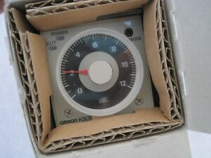 new Omron H3cr a Solid state Din Timer 100 240 Vac 11 Pin 1 2 Sec To 300 Hr