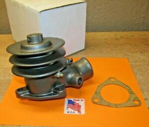 1935 1936 Ford Truck V 8 Water Pump Rebuilt Double Groove Pulley 51 8509 d 16