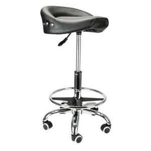 Biker Style Workshop Stool Roller Seat W wheels Up To 350 Lbs