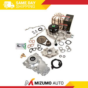 Timing Chain Kit Cover Gasket Sensor Water Oil Pump Fit 97 04 Gm Ls1 4 8 5 3 6 0