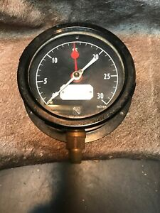 Vintage Vacuum Pressure Gauge By Ashcroft New Old Stock Steam Punk