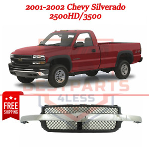 New Grille Assembly For 2001 2002 Chevy Silverado 2500hd 3500 Old Body Style