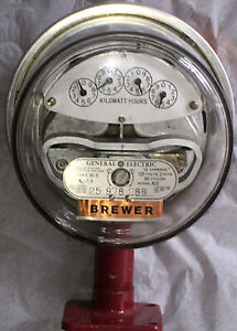 General Electric I 30 s 120v Model Ac5 Meter Brewer Us Vintage W Iron Stand