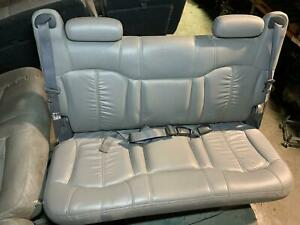 2001 Suburban 2500 3rd Back Row Leather Folding Opt At5 Bench Seat Graphite 122