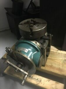 Cincinnati Universal Dividing Head 4 Jaw Chuck Milling Machine