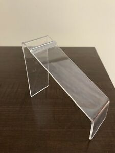 Acrylic Shoe Display Holder Riser 6 Length 4 Height 2 wide Retail Store