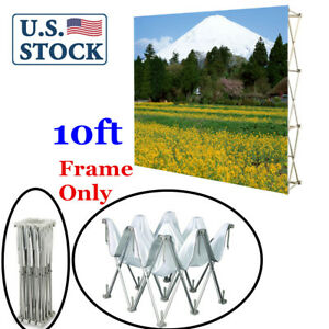 Us 10ft Tension Fabric Pop Up Display Backdrop Trade Show Exhibition Booth
