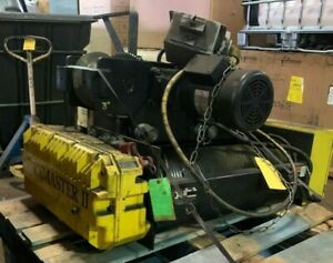 R m 5 ton Electric Cable Rope Trolley Hoist Crane W Power Rack