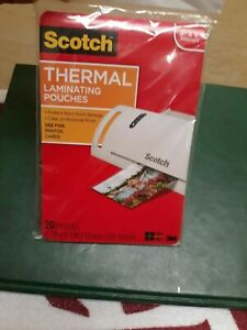 Scotch Thermal Laminating Pouches 20 Pouches