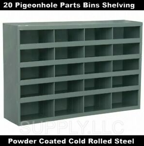 Steel Parts Bin Shelving 20 Pigeonhole Compartments Fitting Shop Storage Garage
