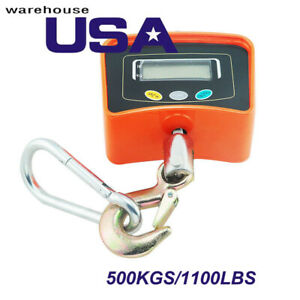 Us 500kg Industrial Digital Crane Scale Heavy Duty Compact Hanging Scale Balance