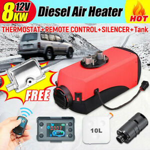 12v 8kw 10l Diesel Air Heater W Lcd Monitor Switch For Suv Car Boat Trailer Top