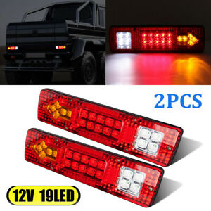 2x Led Waterproof Tail Lights Kit Rv Camper Trailer Truck Rear Turn Signal 12v