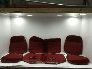 1990 92 Mustang Acme Seat Upholstery Scarlet Red Cloth Coupe
