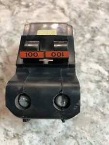 Federal Pacific Na2100 2 Pole 100 Amp 240v Stab lok Circuit Breaker Snap In
