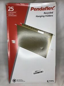 25 X Pendaflex Recycled Hanging File Folders Green Legal Size 81622