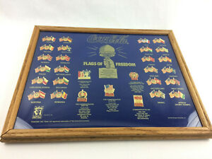 Coca-Cola Flags of Freedom Framed Collectors Pin Set - USED, Free Shipping -