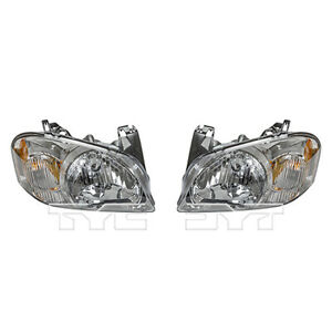 Fits 2005 2006 Mazda Tribute Headlight Assembly Driver And Passenger Side
