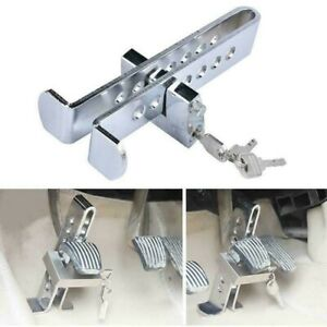 Brake Pedal Lock Security Car Stainless Steel Clutch Lock Anti Theft Safe Device