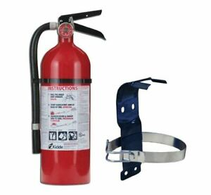Pro 2a 10 b c Fire Extinguisher 5 Lb Mounting Bracket Dry Chemical Safety