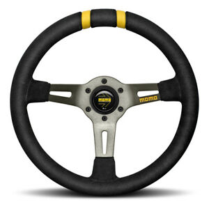 Momo Mod Drift Steering Wheel Black Suede