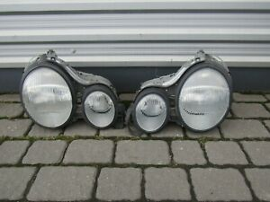 1 Mercedes W210 95 99 Headlamp Headlight Left Right Front Hella 144869 144870