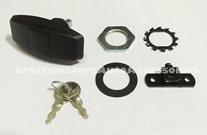 Leer 100xr Black Truck Cap Twist Handle 104403 With Cam For Cables And 2 Keys