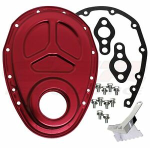 1955 95 Chevy Small Block 283 305 327 350 400 Aluminum Timing Chain Cover Set