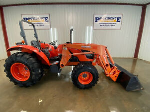 2017 Kubota M7060 Hd 4x4 Tractor Loader With La1154 Loader