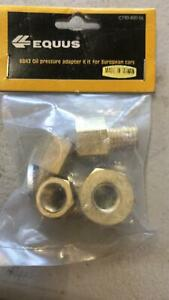 New Equus 6843 Oil Pressure Sender Fitting Adapter Kit For Euro Cars 4 Sizes
