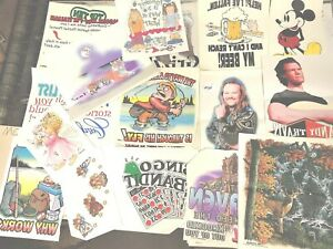 Vintage Iron On Transfer Lot 20 80s 90s T Shirt Transfers 50 Or More Per Lot
