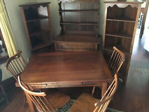 Stickley Dining Room Set Solid Cherry 8 Piece Set Mission