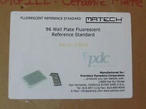 Pdc Matech 96 Well Plate Fluorescent Reference Standard Br 613 Red