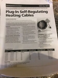 Plug in Self regulating Heating Cables 13r107 new