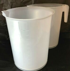 2 Scienceware Plastic Giant Beakers Tall Form 10000ml 1 With Handle
