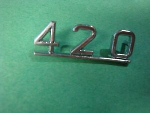 2296 Jaguar New Chrome 420 Badge
