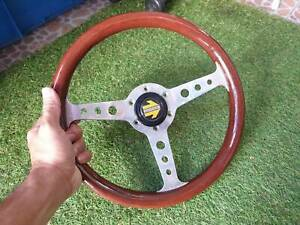 Rare Vintage 1987 Momo Super Indy Wood Steering Wheel Italy Classic 315mm