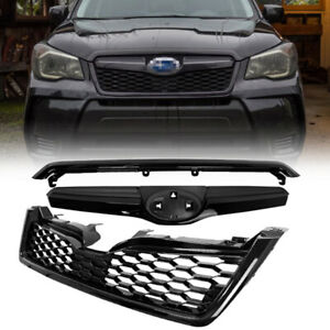 Sti style Matte Black Front Grille abs Bumper Fits 2014 2018 Subaru Forester