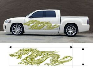 Vinyl Graphics Decal Dragon Car Truck Kit Custom Size Color Variation F3 60