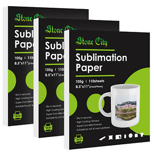 330 Sheets 8 5x11 Dye Sublimation Heat Transfer Paper Cotton Polyester Mugs