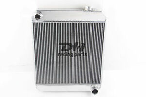3 Rows Aluminum Radiator Fit Chevy Truck Pickup 1960 1966 61 62 63 L6 Polished