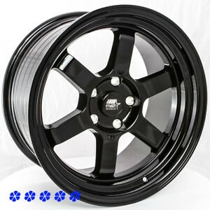 Mst Time Attack 17x9 20 Gloss Black Wheels 5x4 5 94 98 99 04 Ford Mustang Gt V6