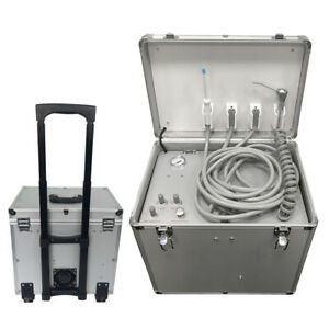 Dental Mobile Delivery Treatment Turbine Unit Suction System 550w 4 Holes Oiless