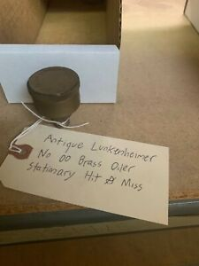 Antique Hit And Miss Engine Machine Lunkenheimer Co Brass Grease Cup 1 4 Npt