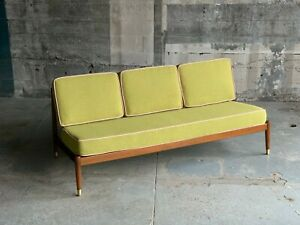 Dux Danish Mid Century Armless Sofa Reupholstered Revived Scandinavian Vintage